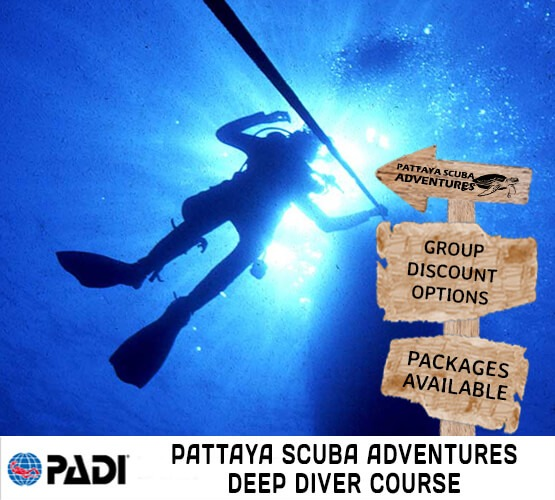 padi deep diver course pattaya scuba adventures