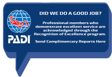 PADI Certificate of Excellence