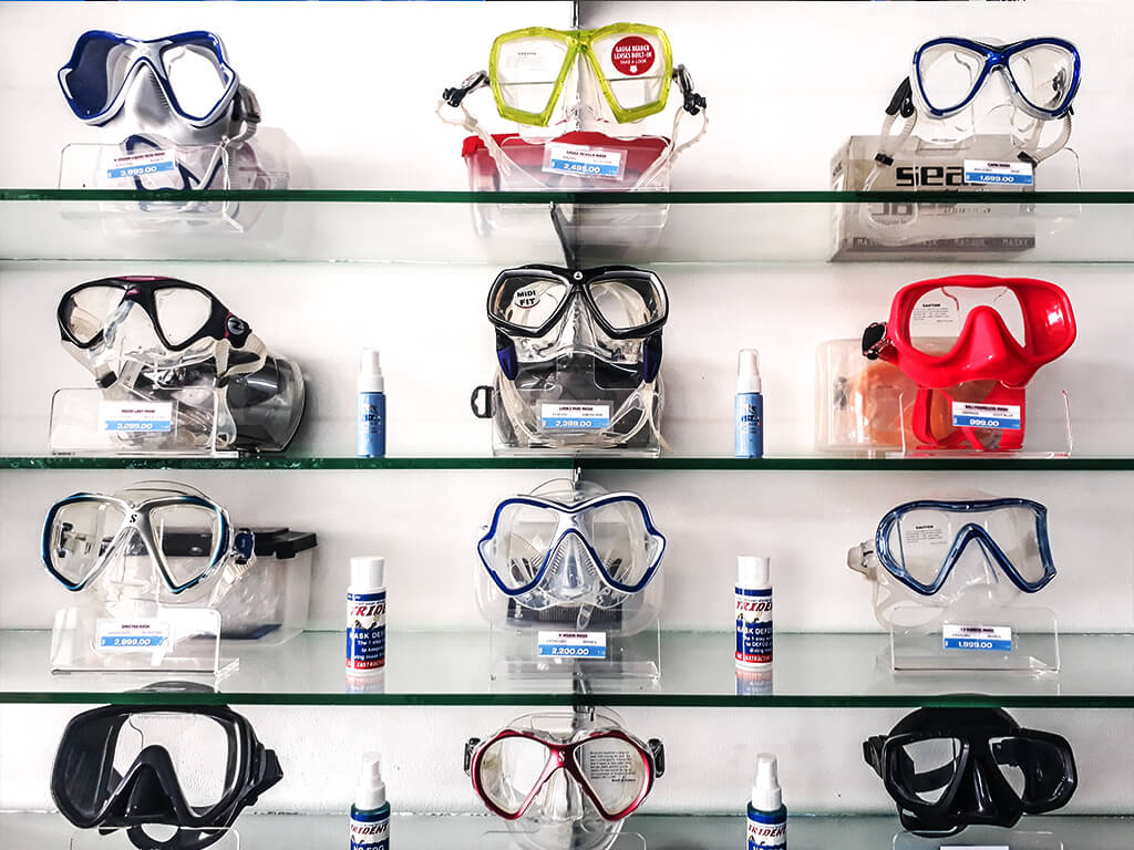 Scuba Diving Masks Dive Gear Pattaya